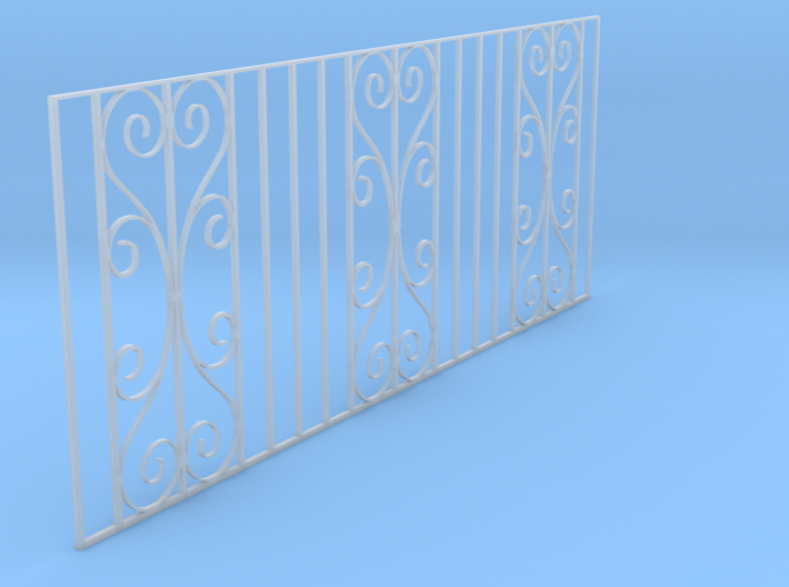 Dolls House Cast Iron Fence 3d printed