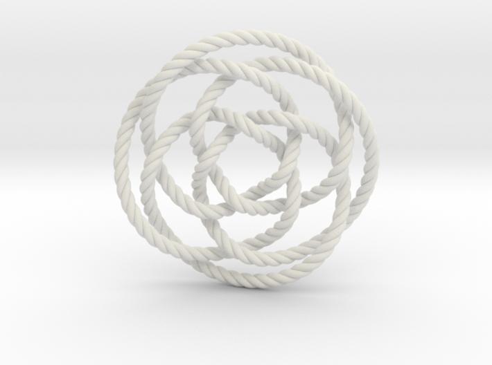 Rose knot 4/5 (Rope) 3d printed