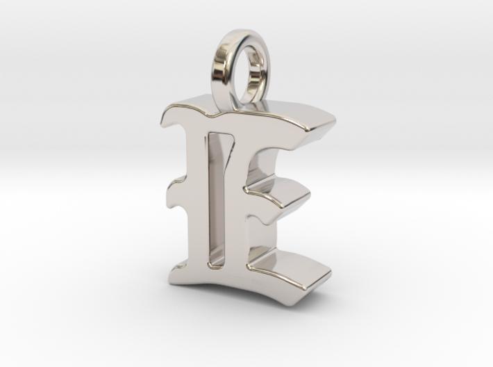 E - Pendant - 3 mm thk. 3d printed