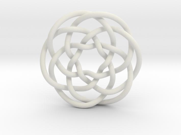 Rose knot 6/5 (Circle) 3d printed