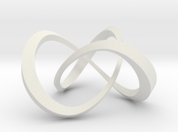 Varying thickness trefoil knot (Square) 3d printed