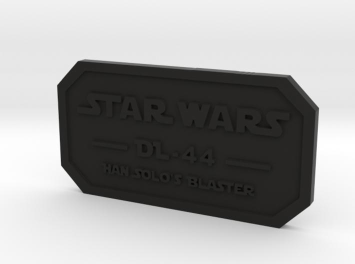 Label for DL-44 3d printed