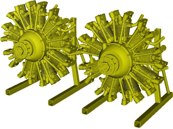 1/15 scale Wright J-5 Whirlwind R-790 engines x 2 3d printed