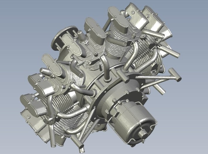 1/15 scale Wright J-5 Whirlwind R-790 engines x 3 3d printed