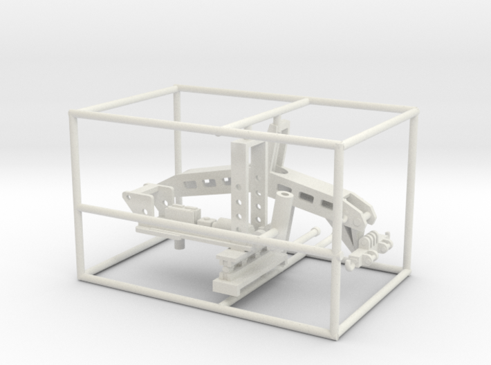 1/50th Fifth Wheel Tow Bar Wrecker unit 3d printed