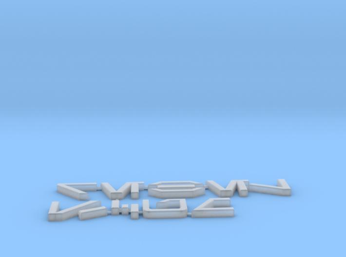 Rebel Scum in Aurebesh 3d printed