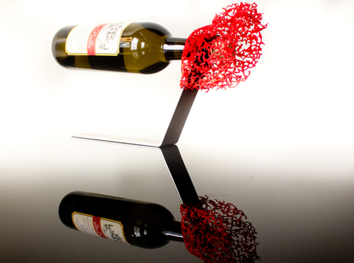 Coral Wine Holder 3d printed