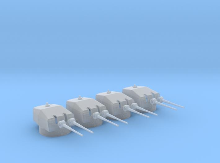 1/350 DKM 15cm/55 (5.9inch) SK C/28 Twin Mount Set 3d printed