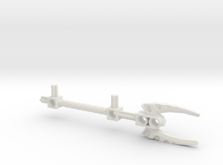 Bionicle staff (Vakama, set form) 3d printed