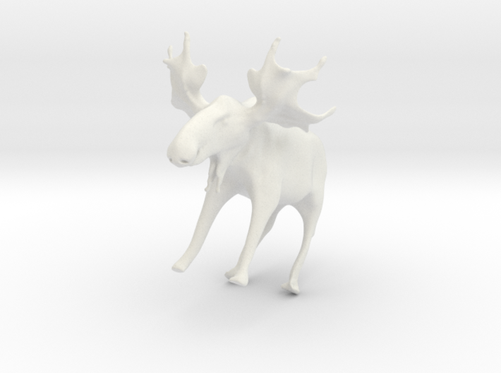 Manny the Maine Moose 3d printed Snow Moose