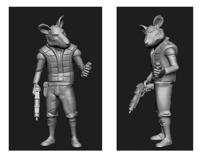Space Rat-Folk 3d printed