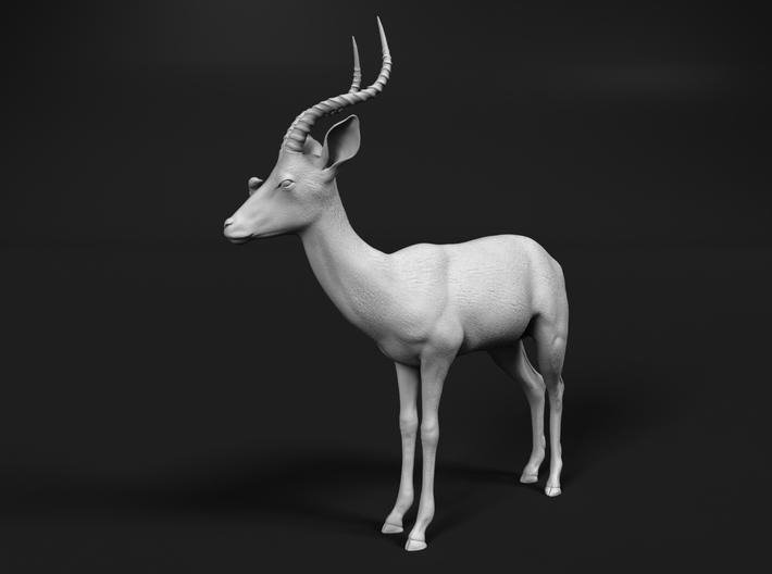 Impala 1:76 Male with Red-Billed Oxpecker 3d printed