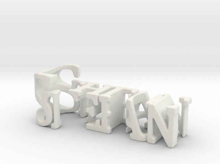3dWordFlip: Stefan/Chloe 3d printed