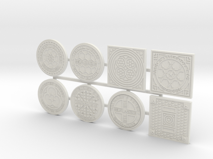 1:16 scale Manhole covers 3d printed