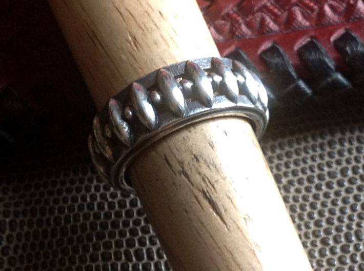 Eagle's Claw Ring - Size 9 1/2 (19.35 mm) 3d printed Shown with Liver of Sulfur Patina