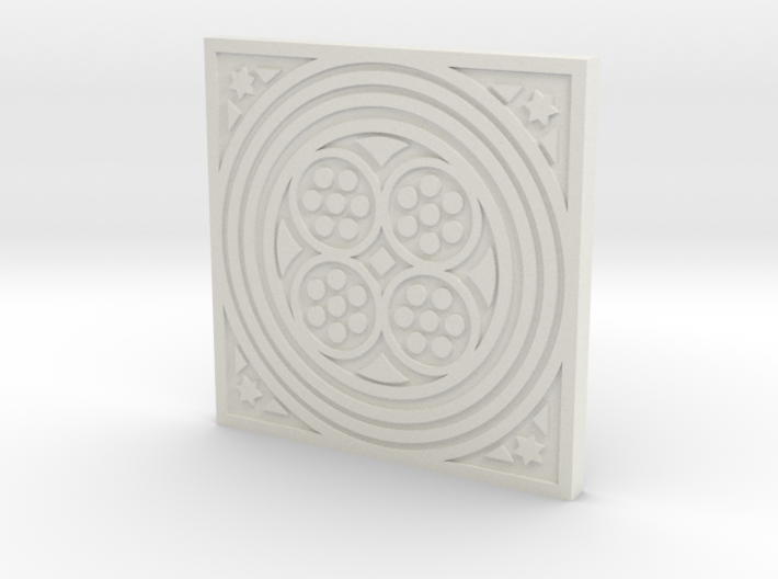 1:9 Scale Square Circles Manhole Cover 3d printed