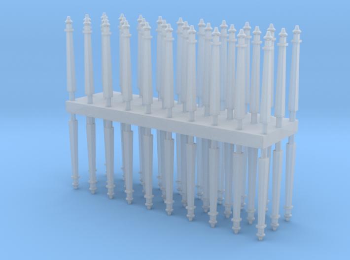 Electric pole type A - T Scale 1:450 60pcs set 3d printed
