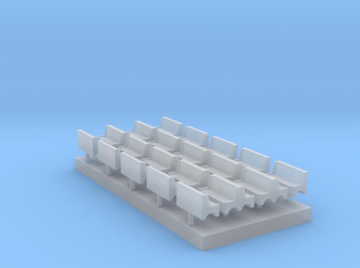 Bench type A - T Scale 1:450 20 pcs set 3d printed