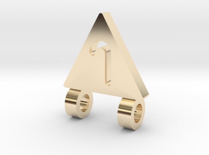 J pendant 3d printed