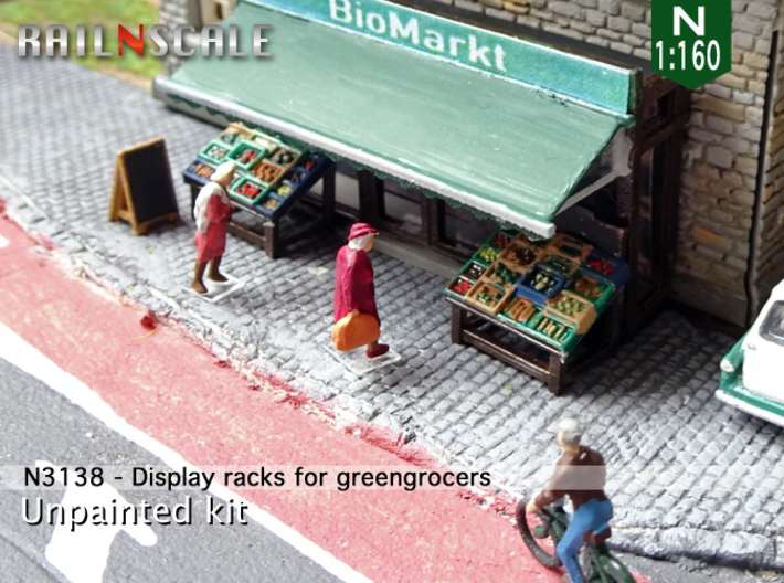 Display racks for greengrocers (N 1:160) 3d printed