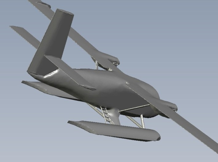 1/200 scale DHC-6 Twin Otter seaplane x 1 3d printed
