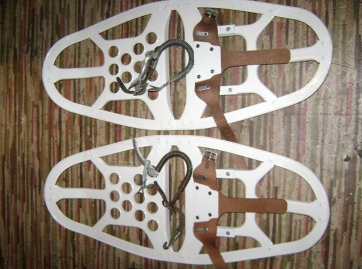 1/35 scale Norwegian Army military snowshoes x 30 3d printed