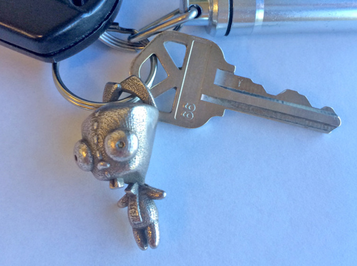 Gir Dog Suit Steel (1.5in Pendant) 3d printed Strong and durable enough for keychain or pendant