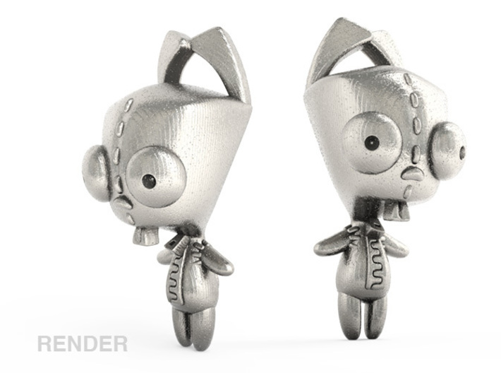 Gir Dog Suit Steel (1.5in Pendant) 3d printed Sample Render how it might look in Steel, for better or for worse