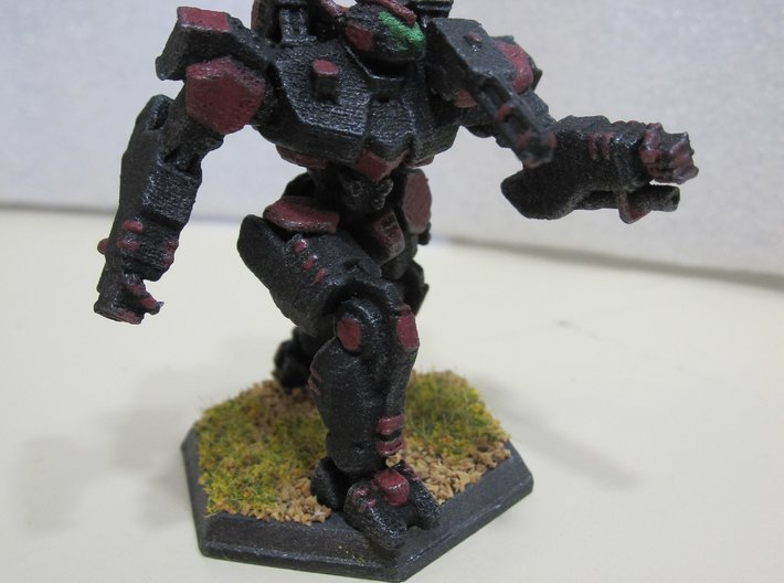 WHAM- King Sandman (1/160th) Multi-Part 3d printed Painted by Devin Ramsey (Sumaire) in 'Dreadnought BattleCorps' colors for use in Battletech tabletop wargaming