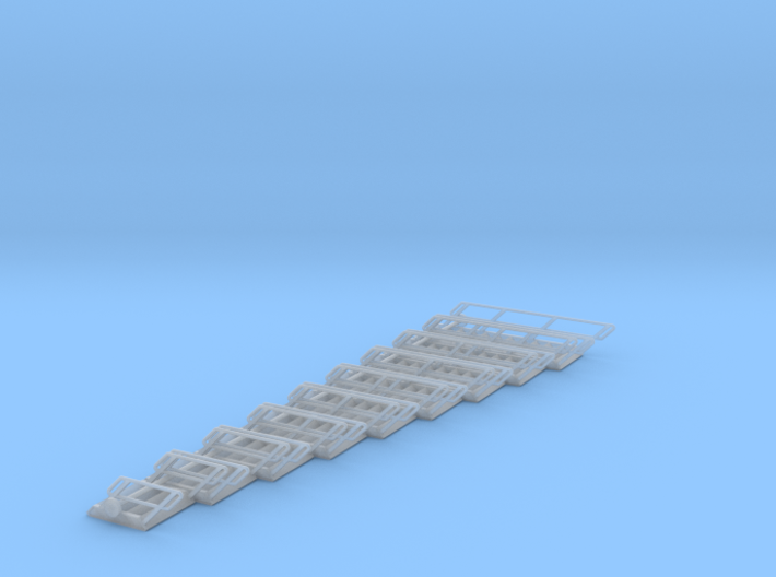 1:72 Stairs Assorted 9pc 3d printed