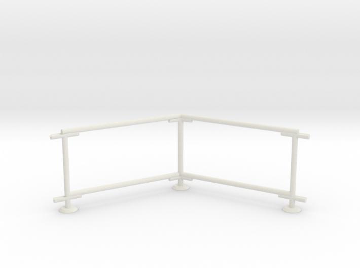 6' Chain-link Barrier Fence 60 deg. Corner (HO) 3d printed Part # CLBF-003
