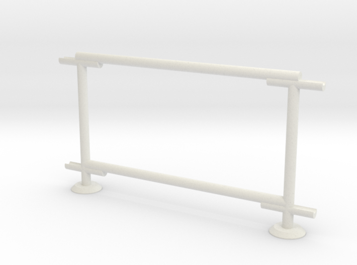 6' Chain-link Barrier Fence 1-Bay (HO) 3d printed Part # CLBF-005