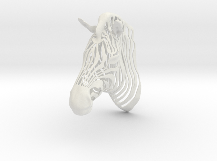 3D Printed Wired Life Zebra Trophy Head Wall 3d printed