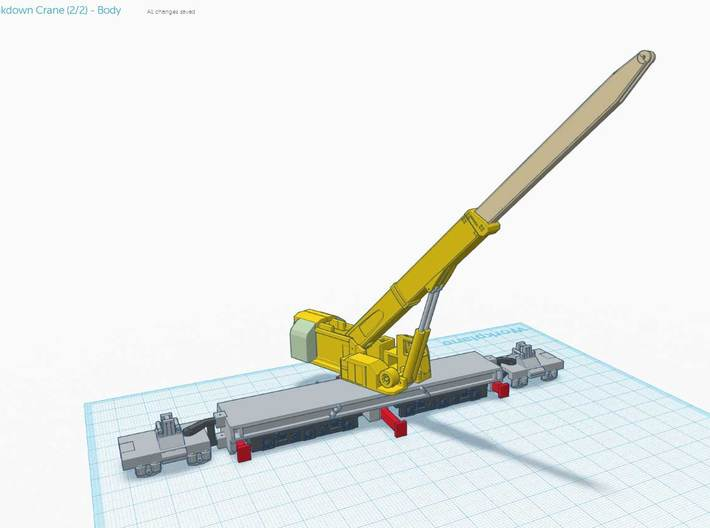 (4/4) - NZ120 60 Ton Breakdown Crane - Jib 3d printed When assembled in theory will look like this..