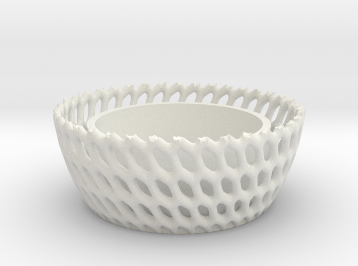 Candel Holder Voronoi Round 3d printed
