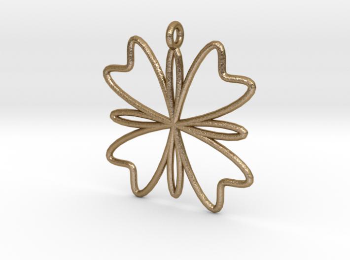 Four Petal Pendant 3d printed