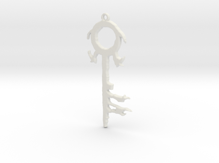 The Silver Key Pendant 3d printed