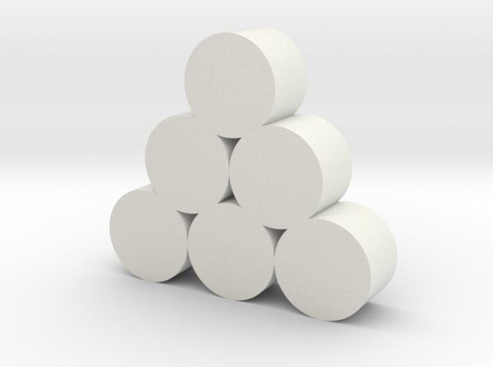 Strohballen Rundballen geschichtet als Pyramide 6e 3d printed