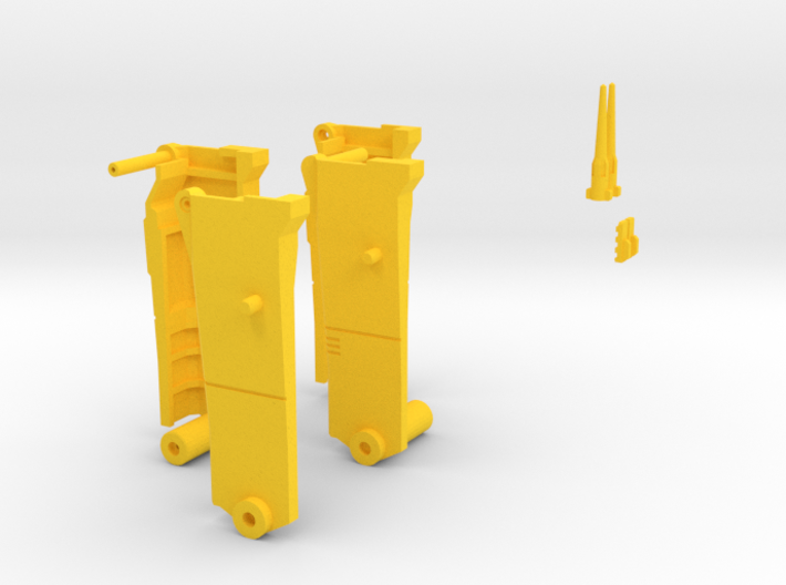 Yellow Pieces merged 3d printed