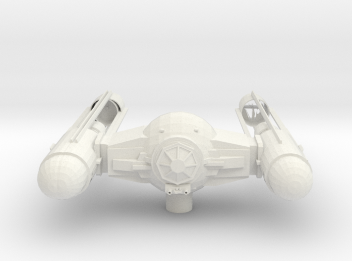 Tie Wing Fighter with upgraded Shell 3d printed