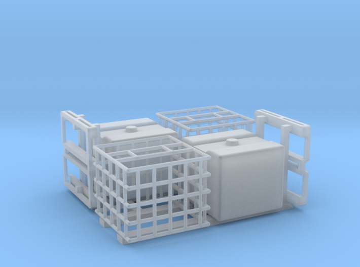 IBC Water Tank 1100 2 Pack Parted 1-87 HO Scale 3d printed