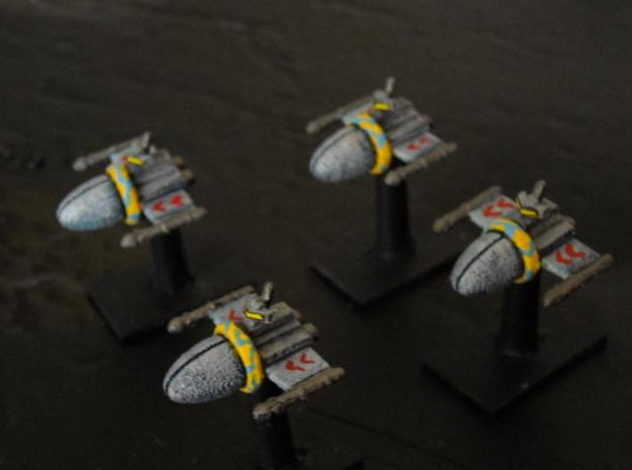SSA102A Chariot Frigate (x4) 3d printed Painted model