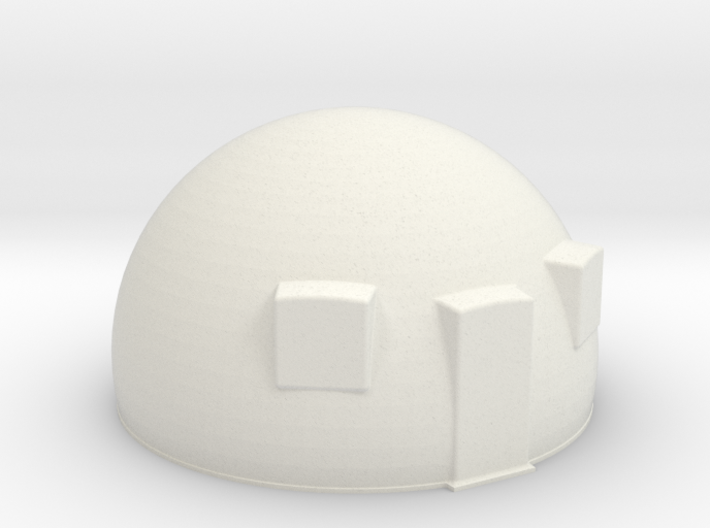 50th scale dome-1 3d printed