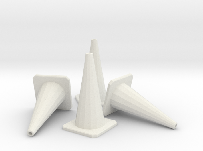 1/24 Traffic Cones X4 3d printed
