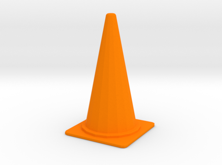 1/24 Large Traffic Cone (70 cm Type) 3d printed
