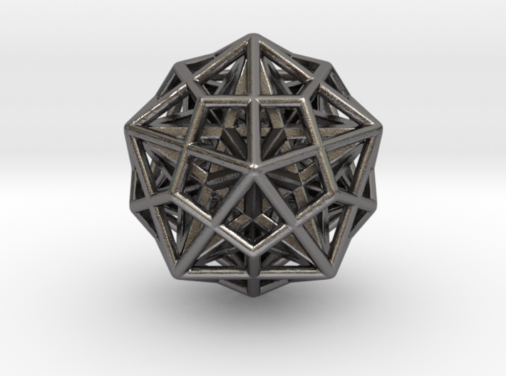 Icosa/Dodeca Combo w/nested Stellated Dodecahedron 3d printed