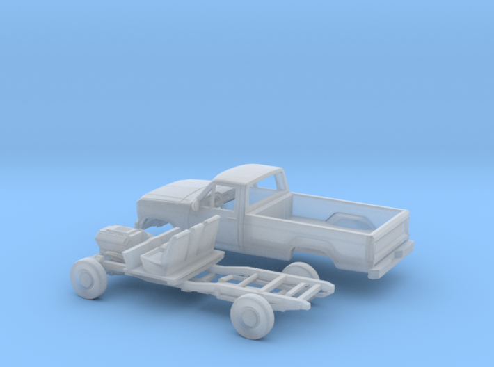 1/148 1979-86 Ford F Series Single Cab Kit 3d printed