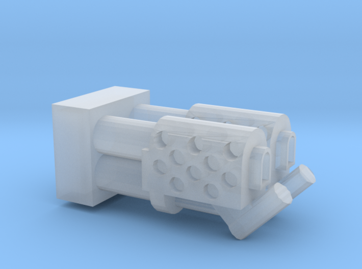 Dual Heavy Flamethrower turret nozzle 3d printed
