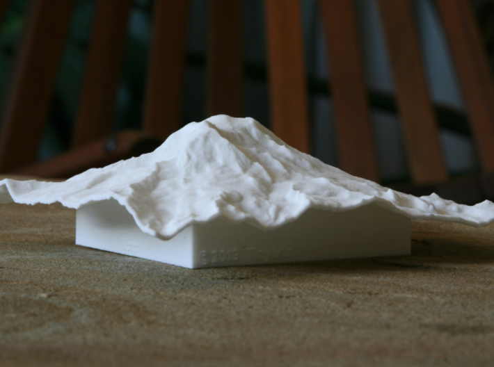 "4'' Mt. Rainier Terrain Model, Washington, USA 3d printed Photo of 4"" model from the Northwest"