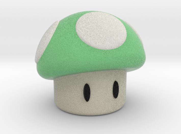 Green Shroom 3d printed